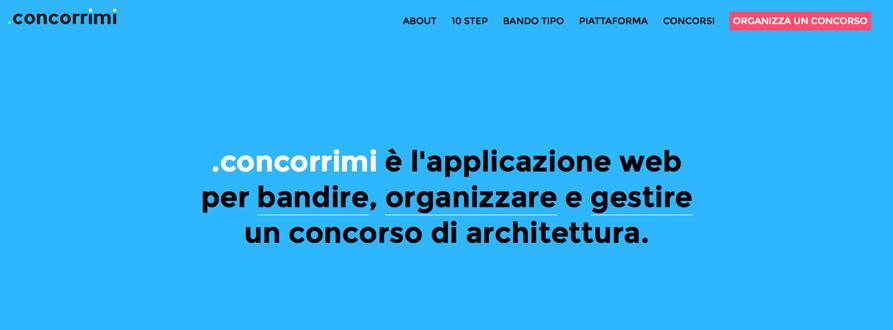 Una piattaforma per promuovere i concorsi for Strumento di progettazione di architettura online